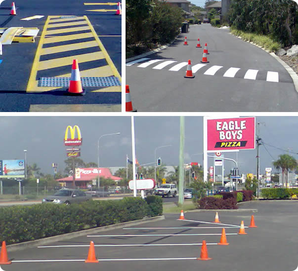 Line Marking Examples in Hervey Bay